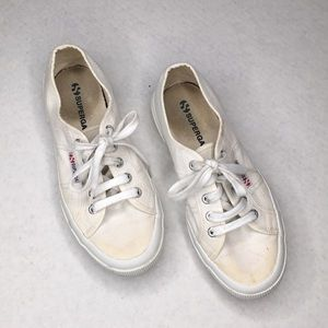 Superga Classic White Cotu Canvas Sneakers Size 38